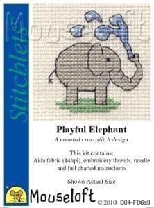 Mouseloft Playful Elephant Stitchlets cross stitch kit